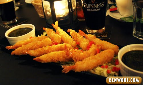 guinness breaded prawn