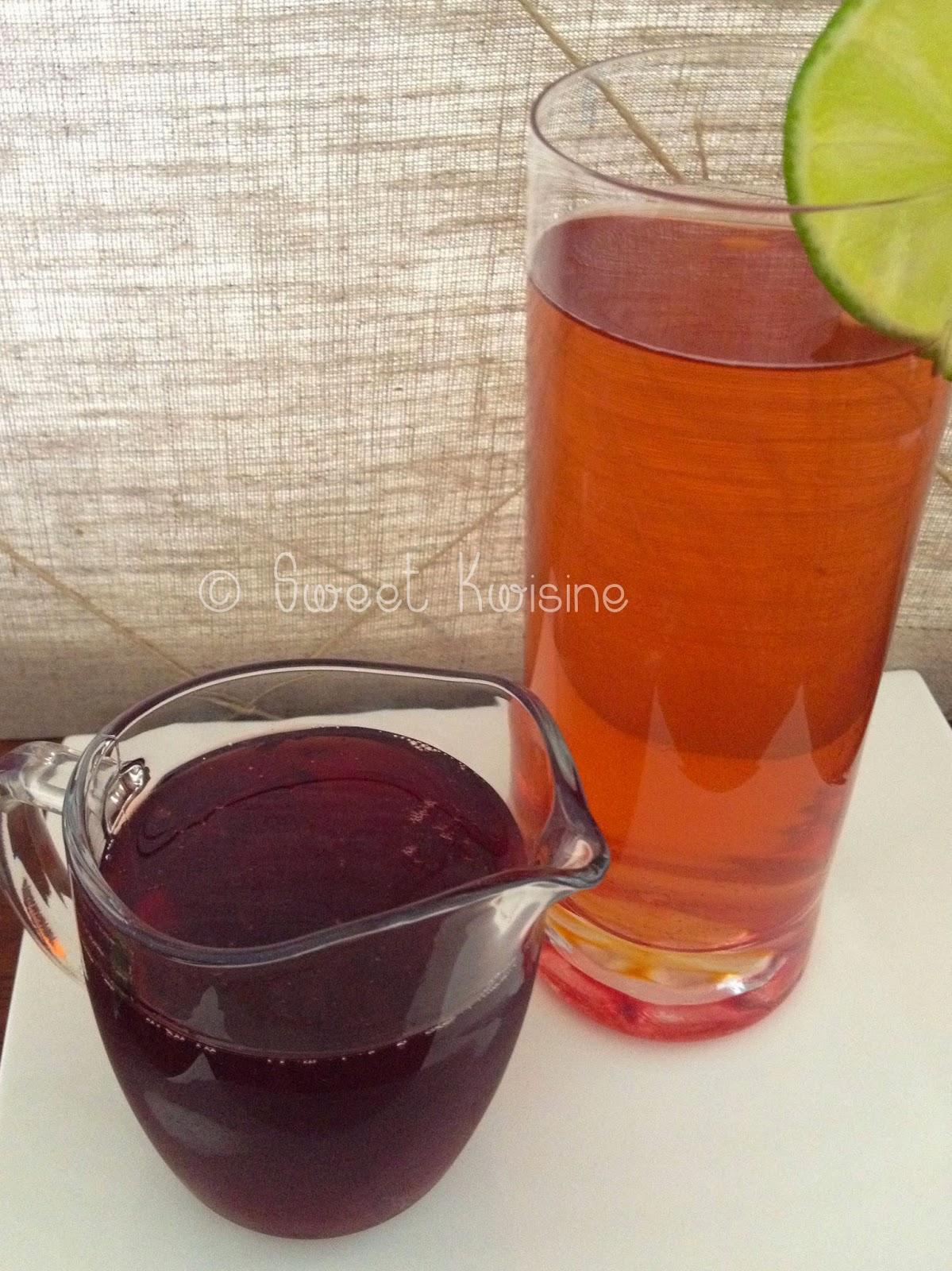sweet kwisine, martinique, noel, groseille, bissap fraîches, hibiscus, sirop, boisson, recette,