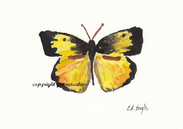 Yellow Butterfly Painting