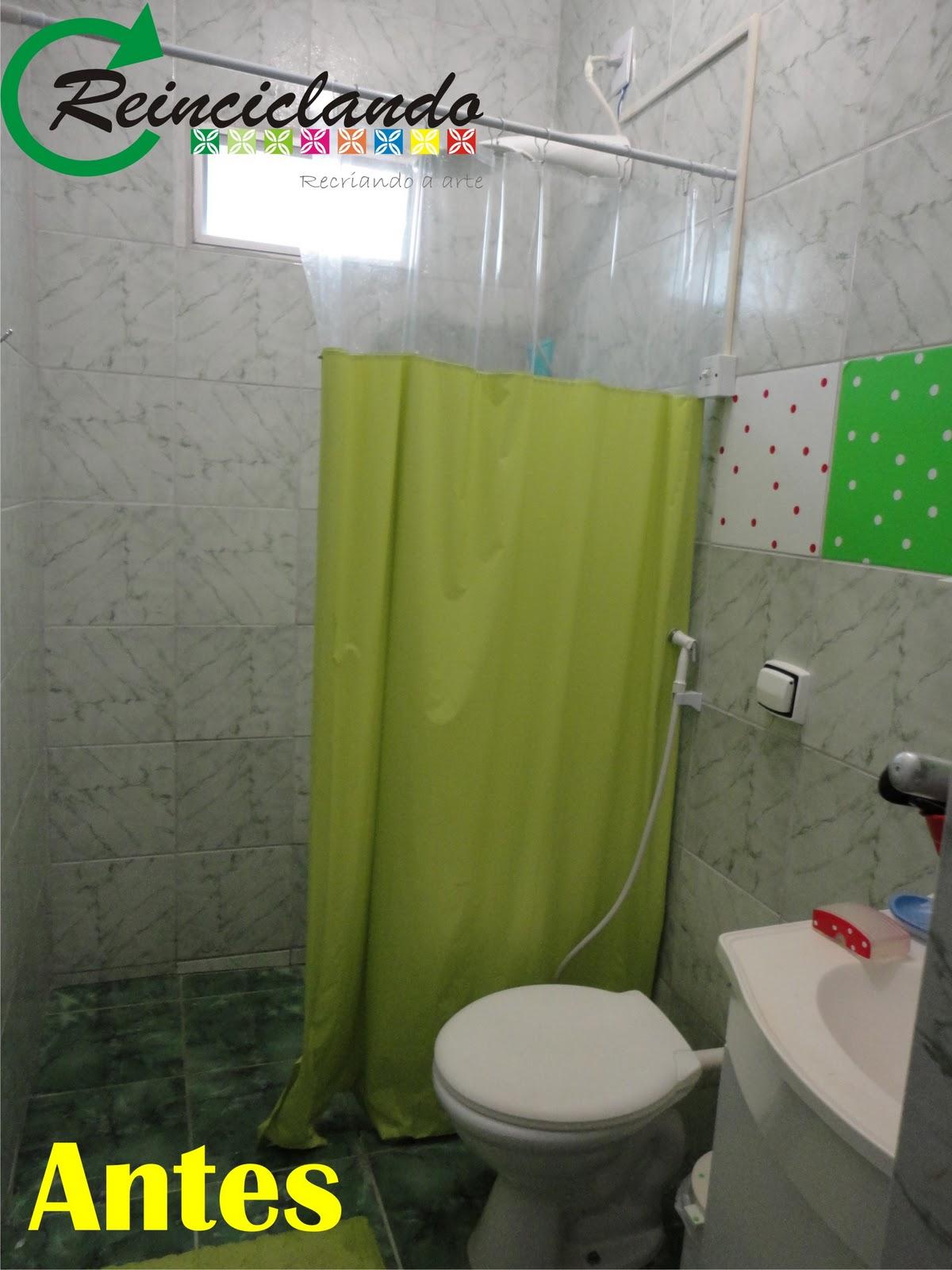 Reinciclando: O Antes e Depois de um banheiro com ape  #C6C704 1200x1600 Antes E Depois De Um Banheiro