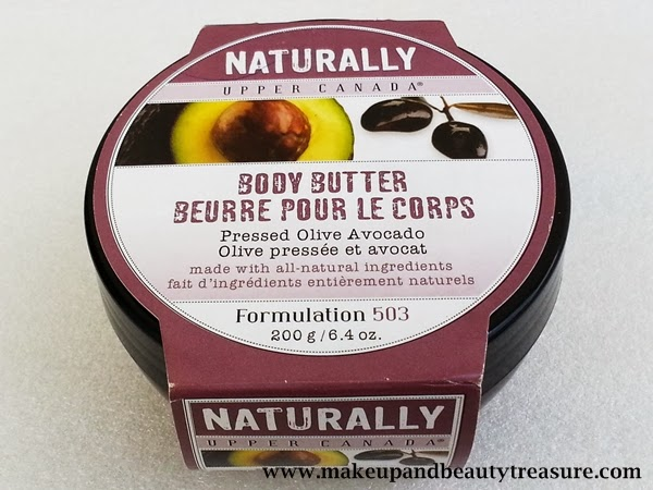 Upper Canada Naturally Pressed Olive Avocado Body Butter