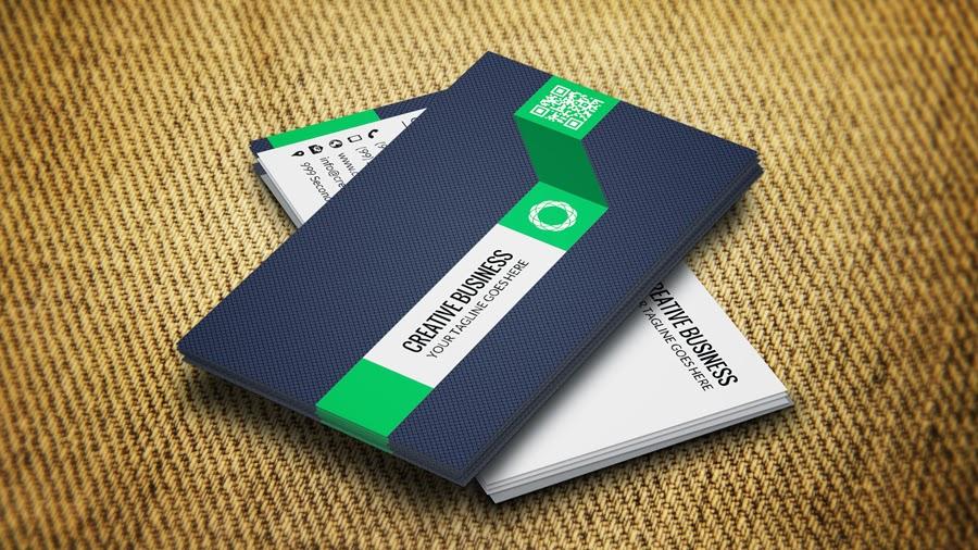 كرت شخصى او بطاقة اعمال باللون (الاخضر والابيض) business cards templates