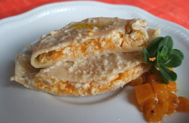 Tortelli alla zucca con salsa di noci - L'interno