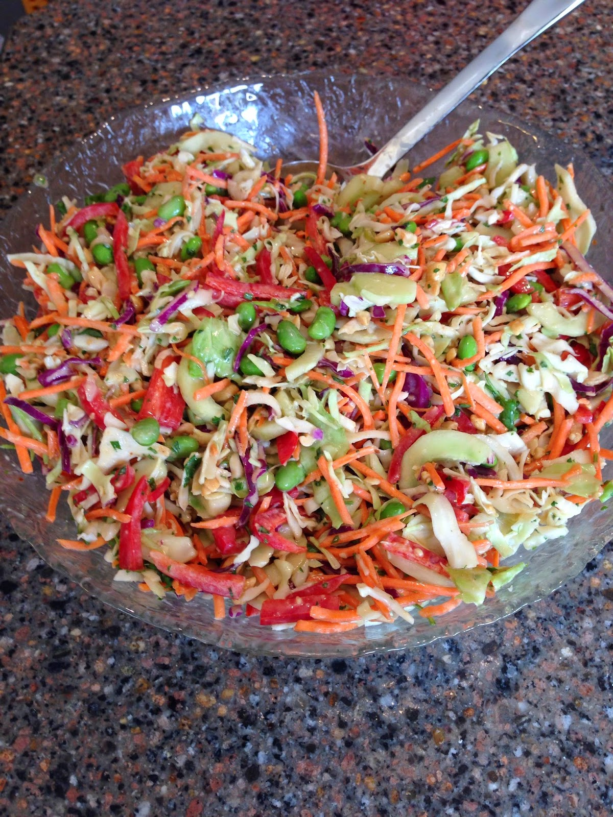 asian coleslaw with peanut dressing
