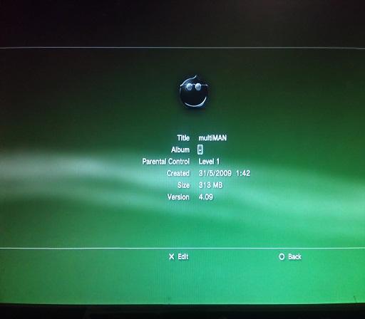 Periksa apakah MULTIMAN dapat membaca IP Adreess PS3