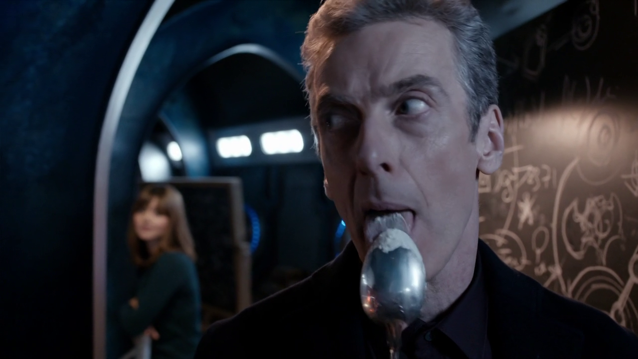 Girl with the orange specs  12th Doctor is a foodie
