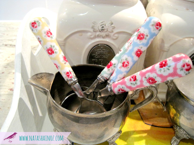 #Coffee Time ~ My New Beverage Station-Cath Kidston spoons image