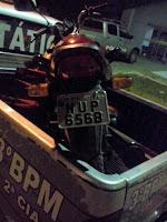 Guaraciaba do Norte: Elementos assaltam posto de combustíveis e polícia apreende moto usada no assalto