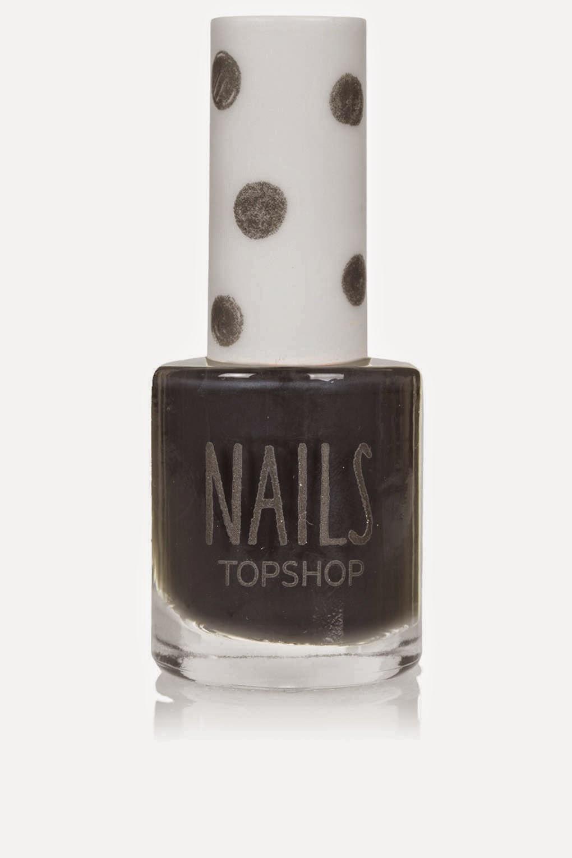 topshop dark grey nail polish