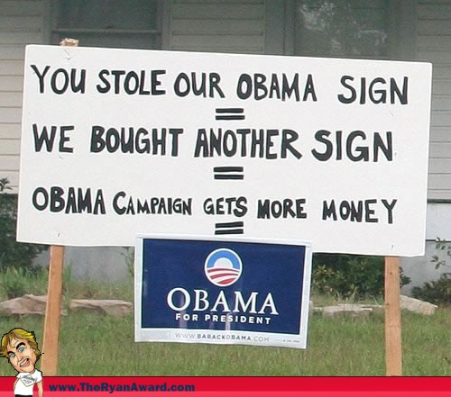 Funny Obama Yard Sign