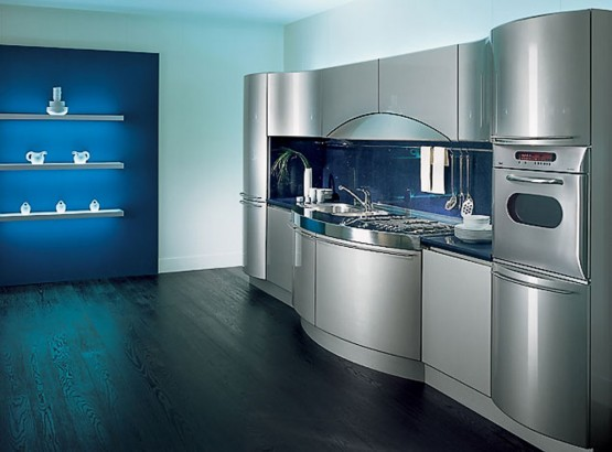 Make Your Life Colorful The Futuristic Silver Kitchen