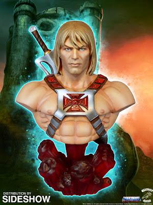 Anteprima del busto di He-Man della TweeterHead dal sito della Sideshow