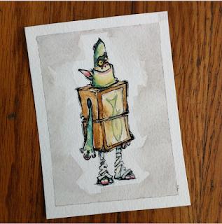 box trolls illustration j shari ewing watercolor ink