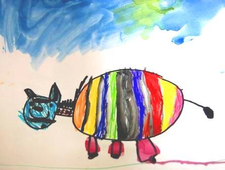 картинки разноцветная зебра