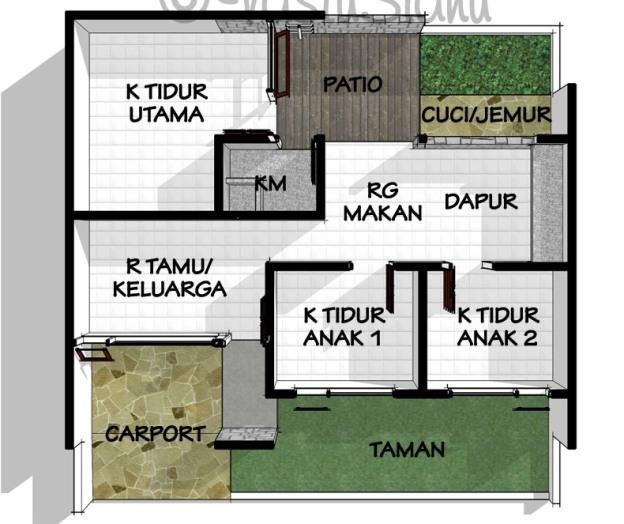 Rumah Minimalis Desain Rumah Minimalis 3 Kamar Tidur 1 Lantai