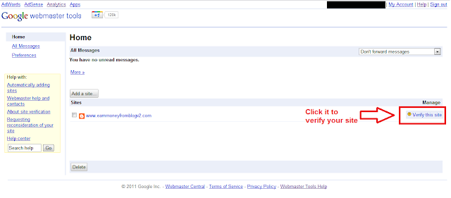 Verify Website to Google Webmaster Central