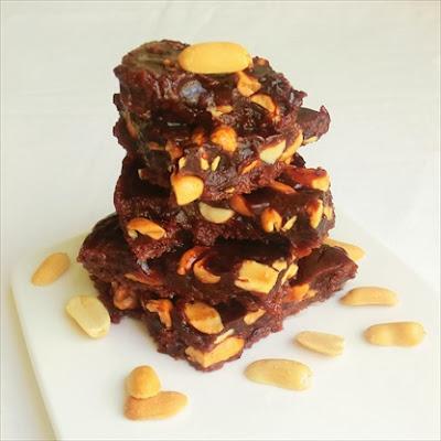 torrone di cacao alle arachidi fatto in casa (sherbet) - dolci per il natale