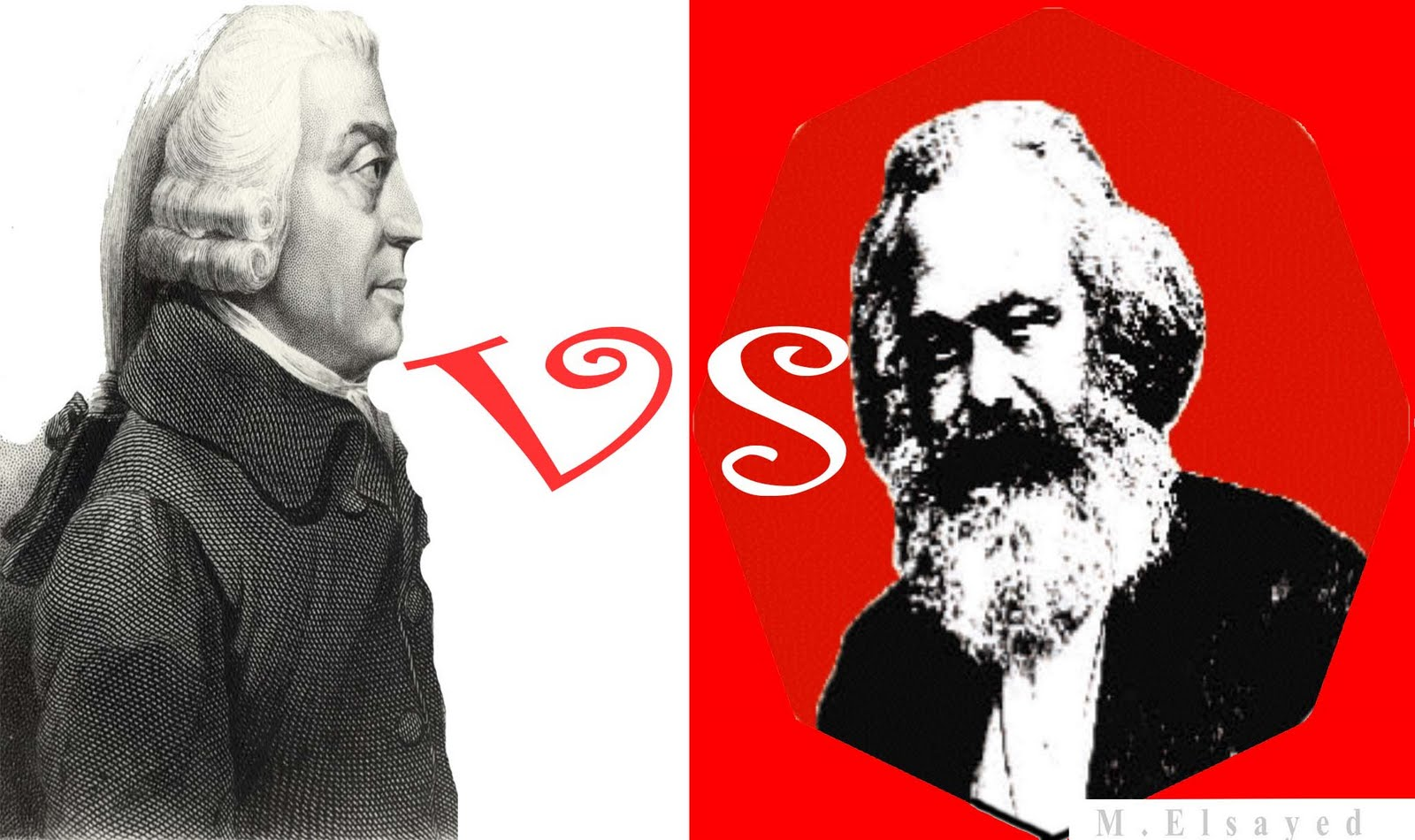 a comparison of the philosophies of adam smith and karl marx Surprisingly many of marx insights coincide with those of adam smith, who is usually hailed as the father of capitalism and its most ardent defendant.