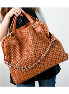 Delicate Preppy Style Color Block Chain Handbag