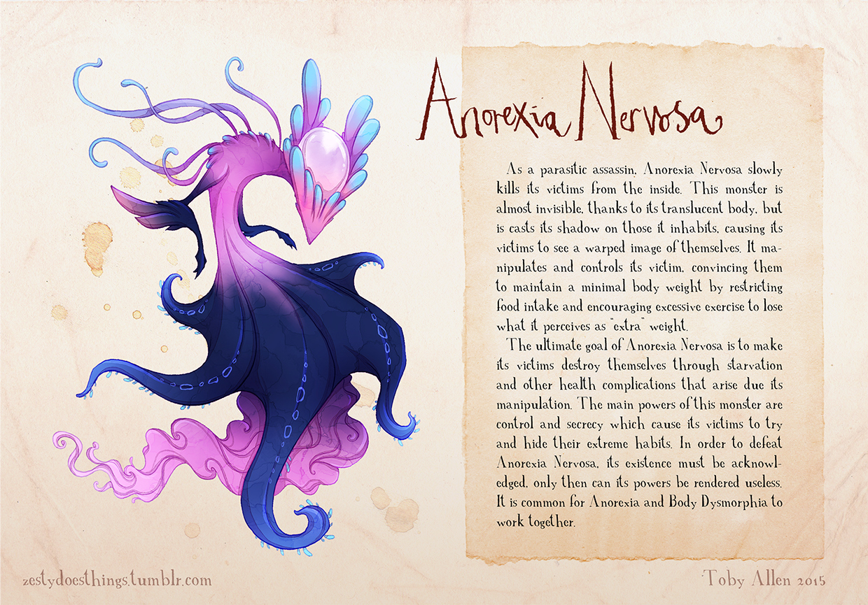 01-Anorexia-Nervosa-Toby-Allen-Monster-Illustrations-to-Embody-Mental-Illness-www-designstack-co