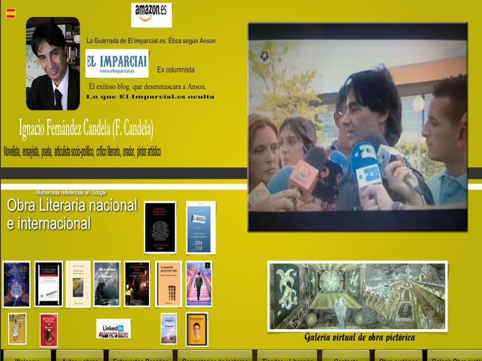 Web personal de autor. Obra Literaria y Pictórica