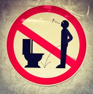 Bathroom etiquette sign