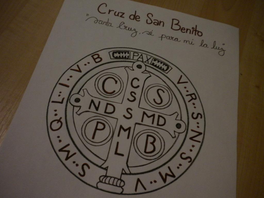 Familia Católica: Cruz de la Medalla de San Benito para colorear ...