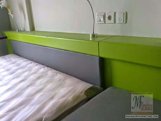 Projects Hotel Pop Tebet Jakarta: Bed Frame/Tempat Tidur Finishing Cat Duco View Interior Kamar Kamar Hotel