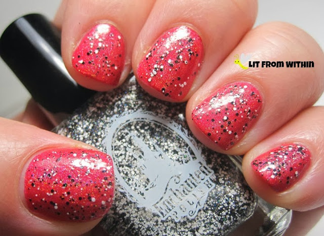 Does black and white glitter go with anything better than red?