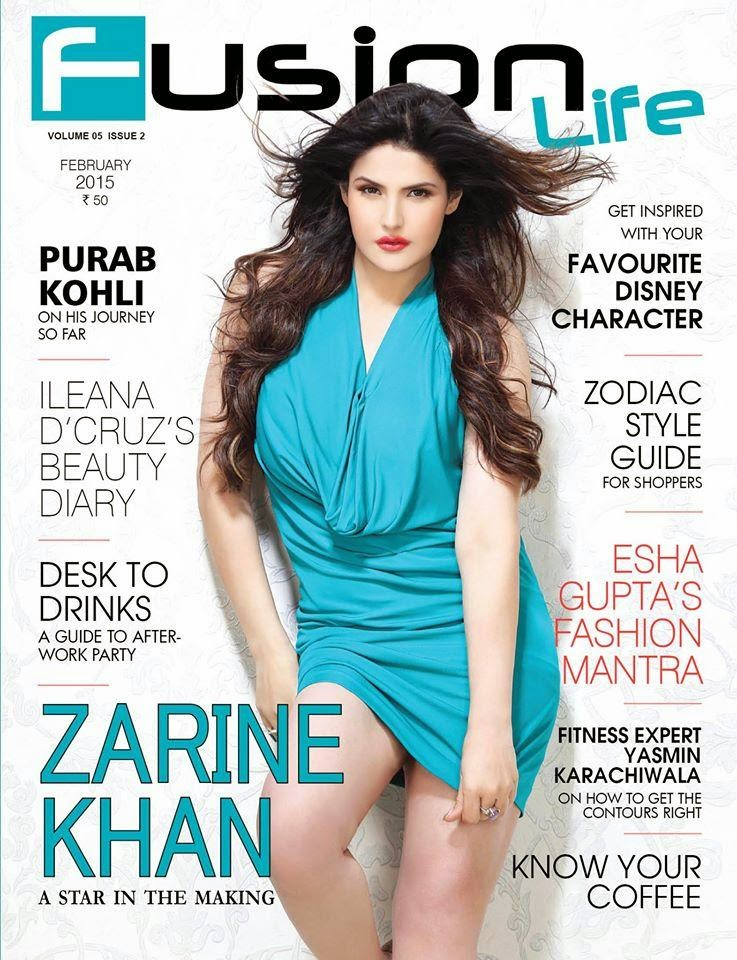 Actress, Model: Zarine Khan for Fusion Life