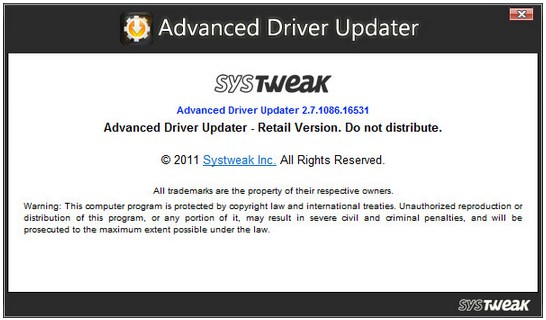 SysTweak Advanced Driver Updater v2.7.1086.16665