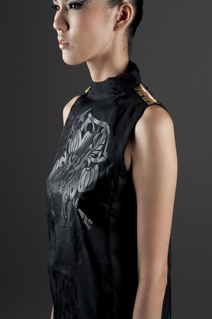 Pauline.ning dress inspired by pieces at the Asian Civilizations Museum in Singapore