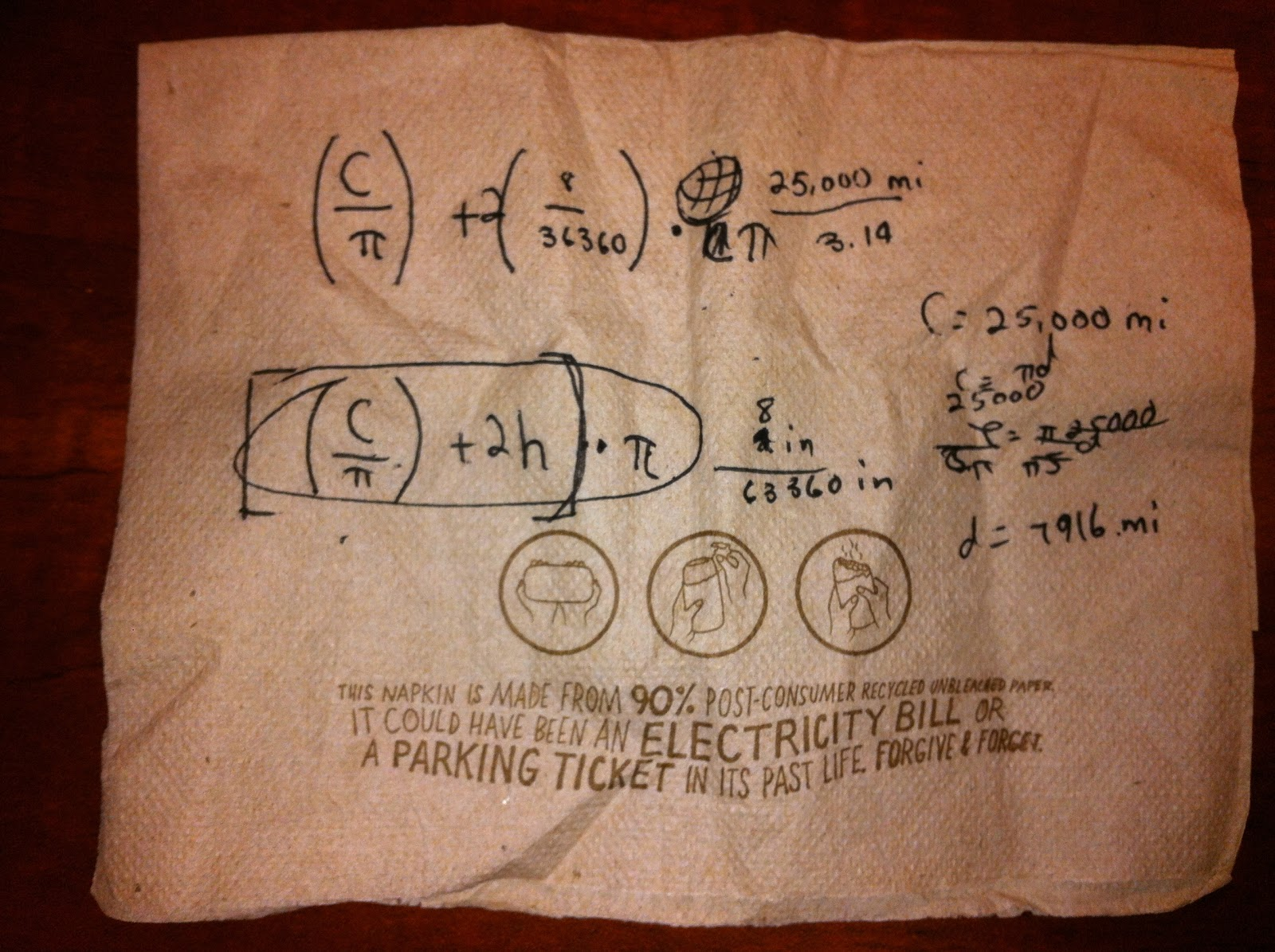 Cnoug planet answer was wrong but it sounded like conceptually he got what he needed to do to solve the problem so i had him write it down on a napkin of course fandeluxe Choice Image
