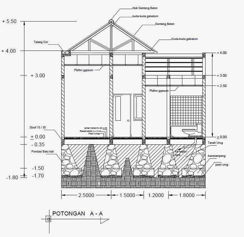 desain rumah cad untuk