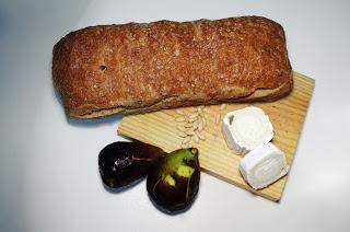 Pintxo de breva y queso de cabra - ingredientes