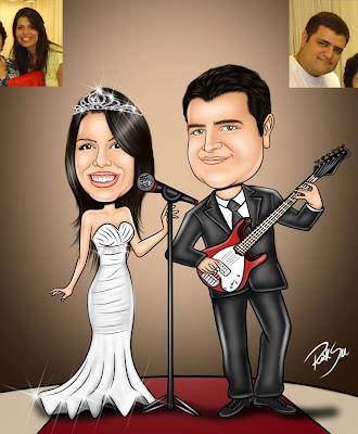 noivo musico e noiva cantora
