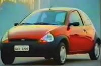 Campanha de lançamento do Ford KA em 1997. Inovação no design de carros.