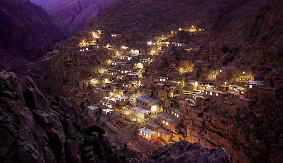 Palangan村の夜景