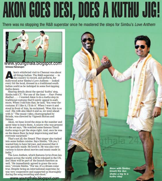 All Remix Songs Tamil Kuthu 2: Silambarasan: Akon Goes Desi, Does A Kuthu Jig