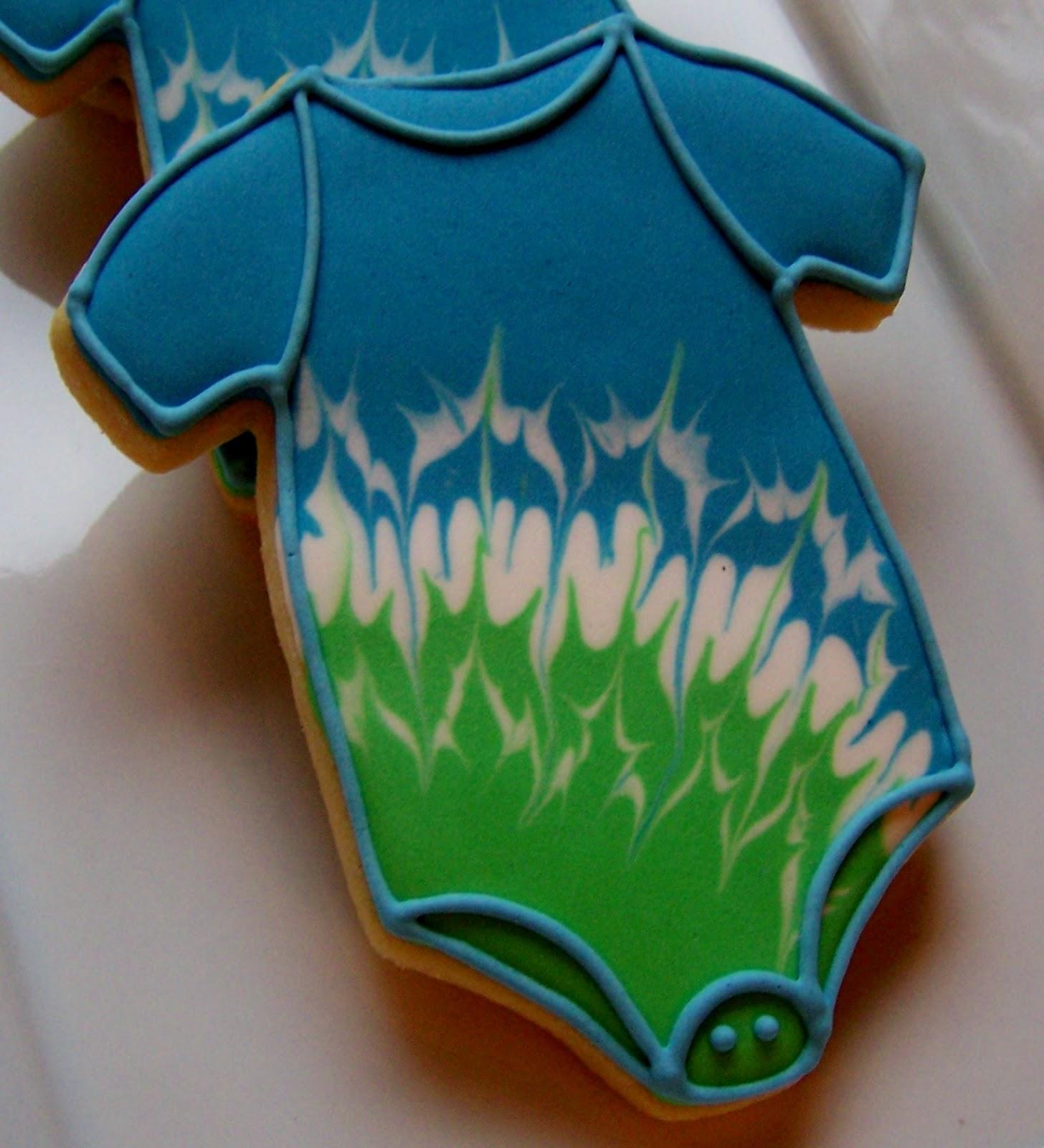 Oven Lovin Tie Dyed Baby Shower Cookies