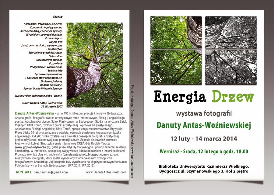 Danuta Antas Woźniewska Solo Fine Art Photography Exhibition The Energy of Trees