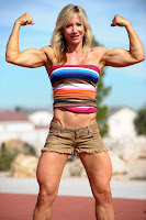 Female bodybuilders thighs