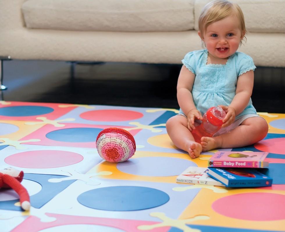 Linda alfombra para el cuarto del beb decorando mejor - Alfombra habitacion bebe ...
