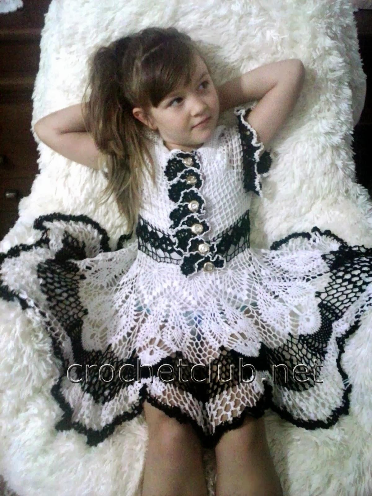 схемы вязания платья олени
