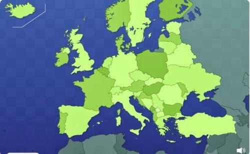 Juego países de Europa.