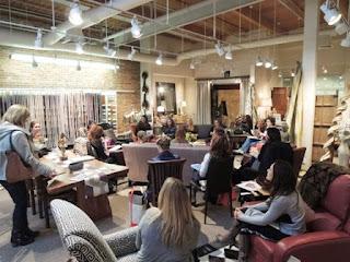 Wesco customers, fabric, Denver Design District