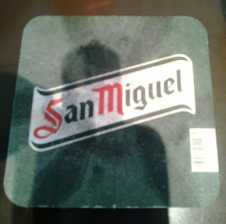 posavasos de cerveza San Miguel