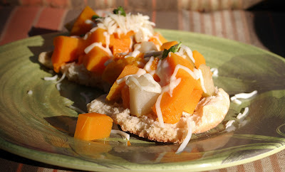 Pear and Squash Bruschetta {Vegan} 1