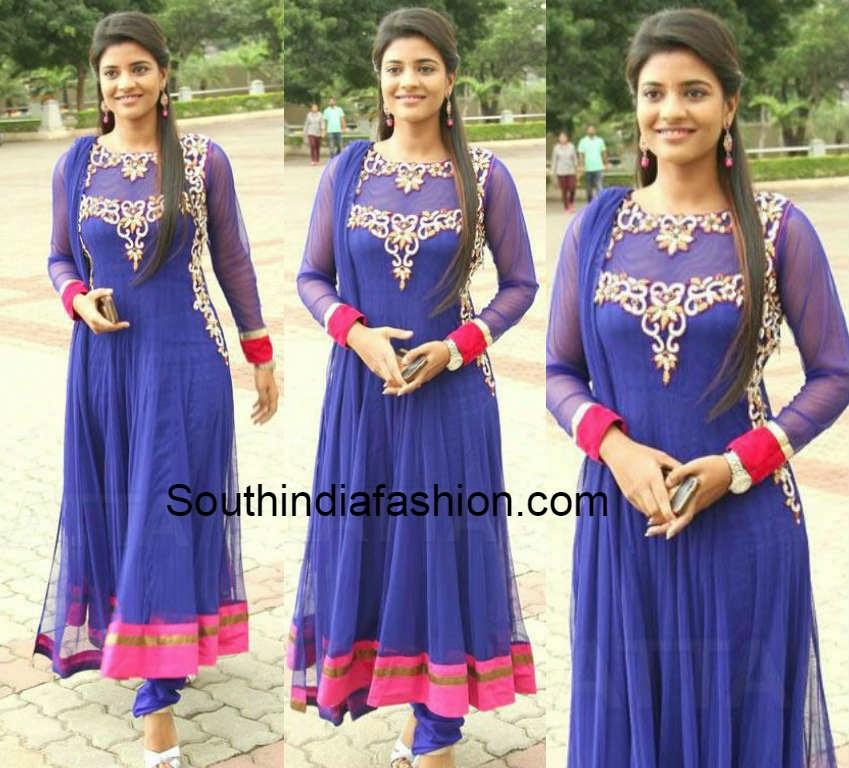 aishwarya in blue anarkali