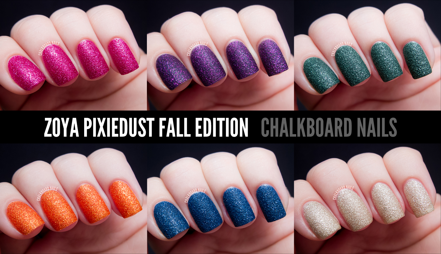 Zoya Fall 2017 Pixiedust Textured Polish Swatches